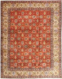 Tabriz Teppe 304X385 Ekte Orientalsk Håndknyttet Rød/Brun Stort (Ull, Persia/Iran)