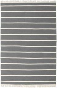 Dorri Stripe - Grå Teppe 160X230 Ekte Moderne Håndvevd Mørk Brun/Mørk Grå (Ull, India)