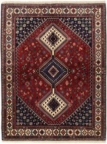 Yalameh Teppe 156X203 Ekte Orientalsk Håndknyttet Mørk Rød/Svart (Ull, Persia/Iran)