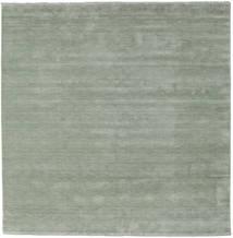 Handloom Fringes - Soft Teal Teppe 250X250 Moderne Kvadratisk Lysgrønn Stort (Ull, India)