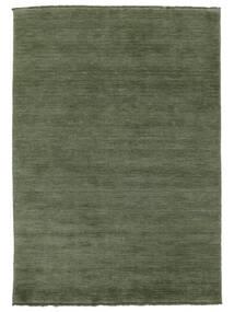 Handloom Fringes - Skogsgrønn Teppe 160X230 Moderne Mørk Grønn/Mørk Grønn (Ull, India)