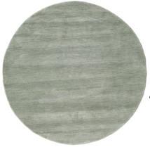Handloom - Soft Teal Teppe Ø 150 Moderne Rundt Lys Grå/Lysgrønn (Ull, India)