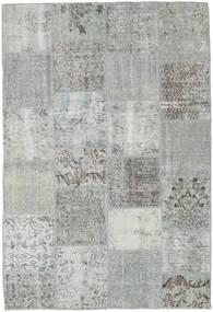 Patchwork Teppe 157X230 Ekte Moderne Håndknyttet Lys Grå/Turkis Blå (Ull, Tyrkia)