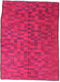 Colored Vintage Teppe 144X195 Ekte Moderne Håndknyttet Rosa/Rød (Ull, Tyrkia)