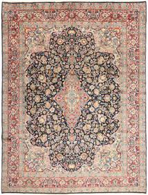 Kerman Teppe 277X368 Ekte Orientalsk Håndknyttet Beige/Mørk Grå Stort (Ull, Persia/Iran)