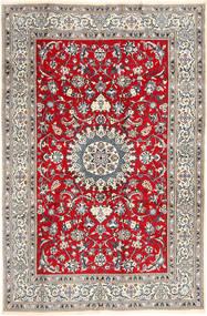 Nain Teppe 196X297 Ekte Orientalsk Håndknyttet Lys Grå/Brun (Ull, Persia/Iran)