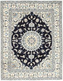 Nain Teppe 193X250 Ekte Orientalsk Håndknyttet Lys Grå/Beige (Ull, Persia/Iran)