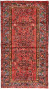 Hamadan Teppe 108X207 Ekte Orientalsk Håndknyttet Mørk Rød/Rust (Ull, Persia/Iran)