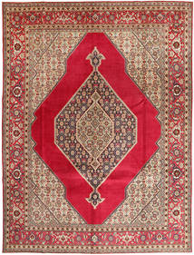 Tabriz Signert: Abaghi Teppe 290X380 Ekte Orientalsk Håndknyttet Mørk Rød/Rød Stort (Ull, Persia/Iran)