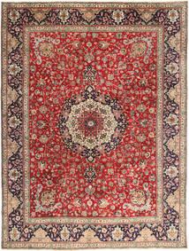 Tabriz Teppe 292X393 Ekte Orientalsk Håndknyttet Mørk Rød/Rust Stort (Ull, Persia/Iran)
