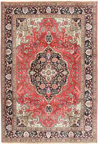 Tabriz Teppe 200X287 Ekte Orientalsk Håndknyttet Mørk Rød/Brun (Ull, Persia/Iran)