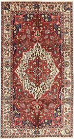 Bakhtiar Teppe 157X296 Ekte Orientalsk Håndknyttet Teppeløpere Mørk Rød/Mørk Brun (Ull, Persia/Iran)