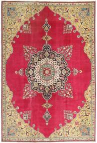 Tabriz Patina Teppe 220X318 Ekte Orientalsk Håndknyttet Rød/Mørk Beige (Ull, Persia/Iran)