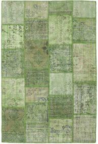 Patchwork Teppe 158X236 Ekte Moderne Håndknyttet Olivengrønn/Lysgrønn (Ull, Tyrkia)