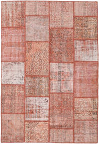 Patchwork Teppe 159X232 Ekte Moderne Håndknyttet Lyserosa/Mørk Rød (Ull, Tyrkia)
