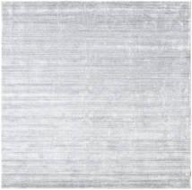 Bamboo Silke Loom - Grå Teppe 250X250 Moderne Kvadratisk Hvit/Creme/Lys Grå Stort ( India)