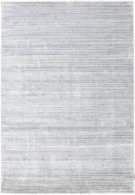 Bamboo Silke Loom - Grå Teppe 160X230 Moderne Hvit/Creme/Lys Grå ( India)