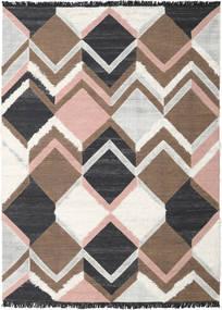 Silvana - Soft Pink Teppe 250X350 Ekte Moderne Håndvevd Brun/Lys Grå Stort (Ull, India)