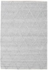 Svea - Sølvgrå Teppe 140X200 Ekte Moderne Håndvevd Lys Grå/Hvit/Creme (Ull, India)
