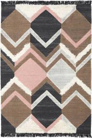 Silvana - Soft Pink Teppe 160X230 Ekte Moderne Håndvevd Mørk Grå/Brun/Lys Grå (Ull, India)