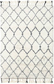 Sauda - Natural Grå Teppe 160X230 Ekte Moderne Håndknyttet Beige/Hvit/Creme (Ull, India)