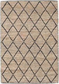 Serena Jute - Natural/Svart Teppe 160X230 Ekte Moderne Håndvevd Lys Grå/Lysbrun ( India)
