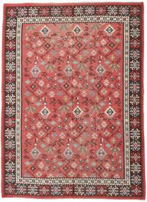 Kelim Russisk Teppe 230X312 Ekte Orientalsk Håndvevd Rust/Mørk Rød (Ull, Azerbaijan/Russland)