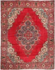 Tabriz Teppe 310X380 Ekte Orientalsk Håndknyttet Mørk Rød/Rød Stort (Ull, Persia/Iran)