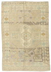 Taspinar Teppe 148X217 Ekte Orientalsk Håndknyttet Mørk Beige/Olivengrønn (Ull, Tyrkia)