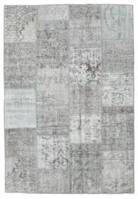Patchwork Teppe 160X231 Ekte Moderne Håndknyttet Lys Grå/Turkis Blå/Lysgrønn (Ull, Tyrkia)