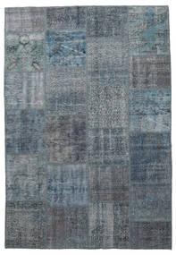 Patchwork Teppe 160X232 Ekte Moderne Håndknyttet Blå/Mørk Grå (Ull, Tyrkia)