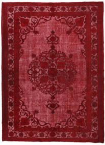 Colored Vintage Relief Teppe 226X309 Ekte Moderne Håndknyttet Mørk Rød/Rød (Ull, Tyrkia)