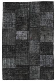 Patchwork Teppe 198X302 Ekte Moderne Håndknyttet Svart/Mørk Grå (Ull, Tyrkia)