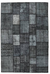 Patchwork Teppe 203X300 Ekte Moderne Håndknyttet Mørk Blå/Mørk Grå/Lys Grå (Ull, Tyrkia)