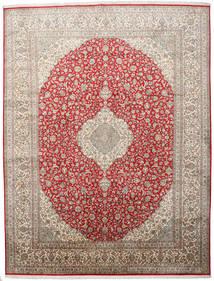 Kashmir Ren Silke Teppe 279X363 Ekte Orientalsk Håndknyttet Lys Grå Stort (Silke, India)