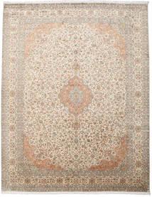 Kashmir Ren Silke Teppe 277X360 Ekte Orientalsk Håndknyttet Lys Grå/Beige Stort (Silke, India)