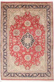 Kashmir Ren Silke Teppe 182X270 Ekte Orientalsk Håndknyttet Mørk Brun/Rust (Silke, India)