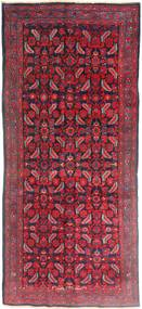 Hamadan Teppe 137X320 Ekte Orientalsk Håndknyttet Teppeløpere Mørk Rød/Rød (Ull, Persia/Iran)