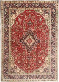Tabriz Teppe 200X282 Ekte Orientalsk Håndknyttet Mørk Brun/Mørk Rød (Ull, Persia/Iran)