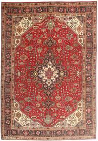 Tabriz Teppe 200X294 Ekte Orientalsk Håndknyttet Mørk Rød/Brun (Ull, Persia/Iran)