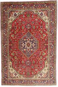 Tabriz Teppe 198X300 Ekte Orientalsk Håndknyttet Mørk Brun/Brun (Ull, Persia/Iran)