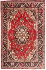 Tabriz Teppe 197X300 Ekte Orientalsk Håndknyttet Mørk Rød/Brun (Ull, Persia/Iran)