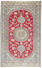 Nain 9La Teppe 157X257 Ekte Orientalsk Håndknyttet Lys Grå/Brun (Ull/Silke, Persia/Iran)