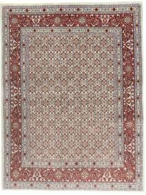 Moud Teppe 140X190 Ekte Orientalsk Håndknyttet Lys Grå/Rosa (Ull/Silke, Persia/Iran)