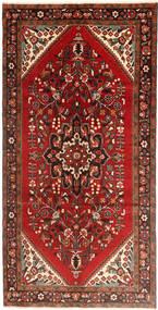 Hamadan Teppe 160X323 Ekte Orientalsk Håndknyttet Teppeløpere Mørk Rød/Rust (Ull, Persia/Iran)