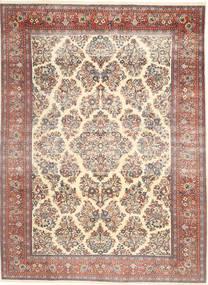 Sarough Patina Teppe 200X280 Ekte Orientalsk Håndknyttet Beige/Mørk Brun (Ull, Persia/Iran)