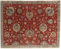 Tabriz Patina Teppe 183X230 Ekte Orientalsk Håndknyttet Mørk Rød/Lysbrun (Ull, Persia/Iran)