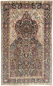 Kerman Patina Teppe 145X238 Ekte Orientalsk Håndknyttet Lys Grå/Mørk Brun (Ull, Persia/Iran)