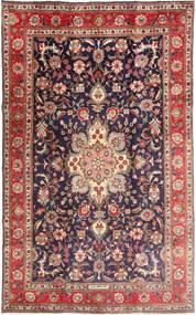 Tabriz Teppe 190X315 Ekte Orientalsk Håndknyttet Mørk Rød/Mørk Lilla (Ull, Persia/Iran)