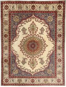 Tabriz Teppe 310X400 Ekte Orientalsk Håndknyttet Lysbrun/Beige Stort (Ull, Persia/Iran)